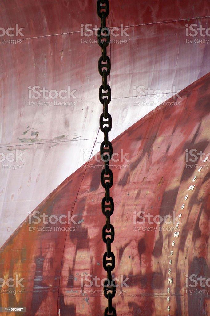 ships chain royalty-free stock photo