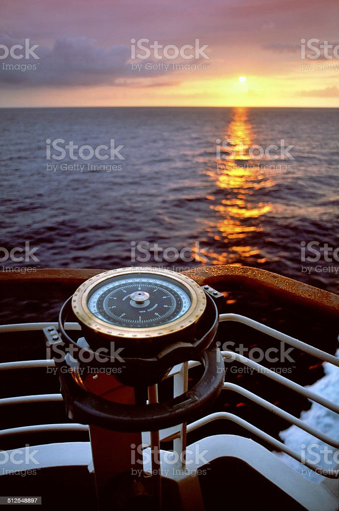 Ships Compass stock photo