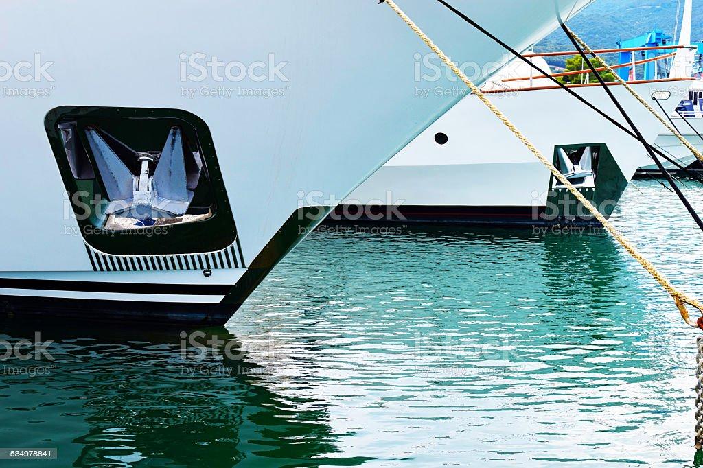 Ships docked stock photo