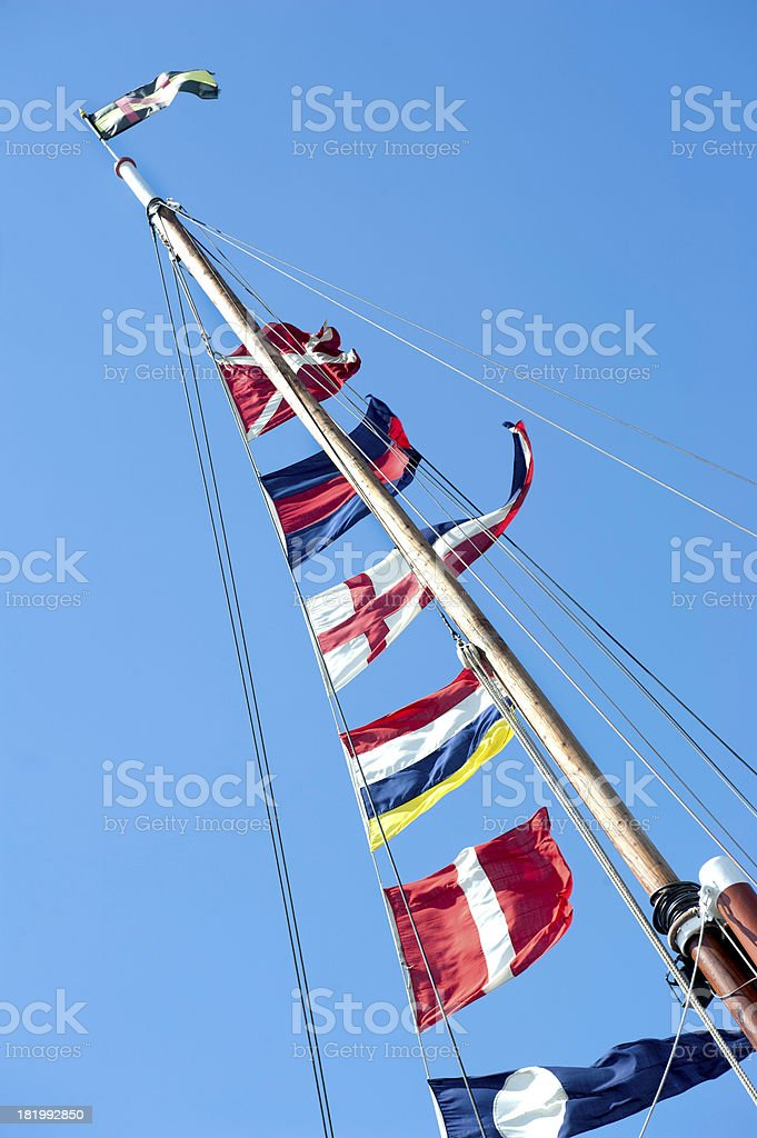 Ships Flags stock photo
