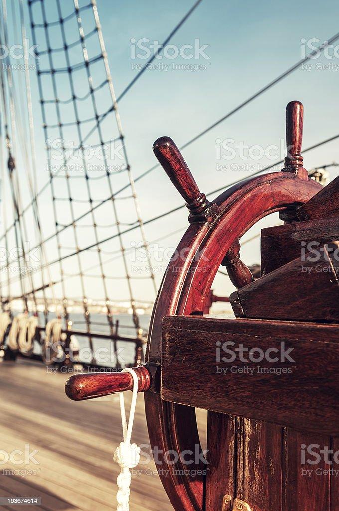 Ship's Helm stock photo
