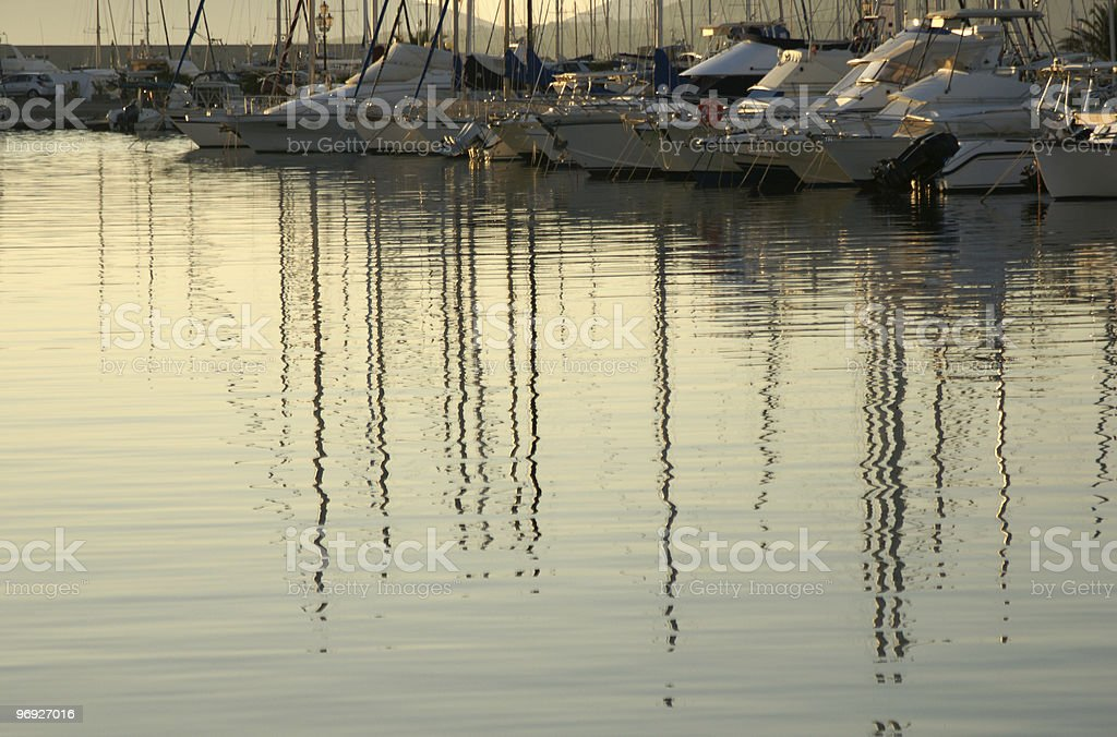 Ships in a harbour royalty-free stock photo