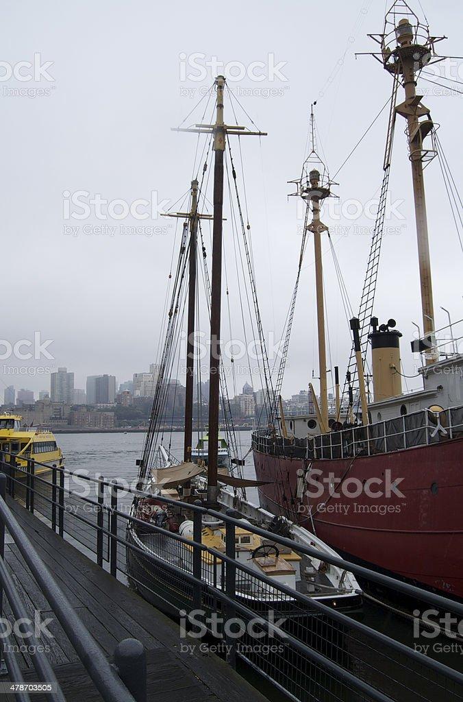 Ships in Hudson royalty-free stock photo