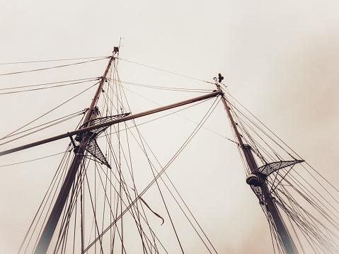 501889762 istock photo Ship's mast 1205457107