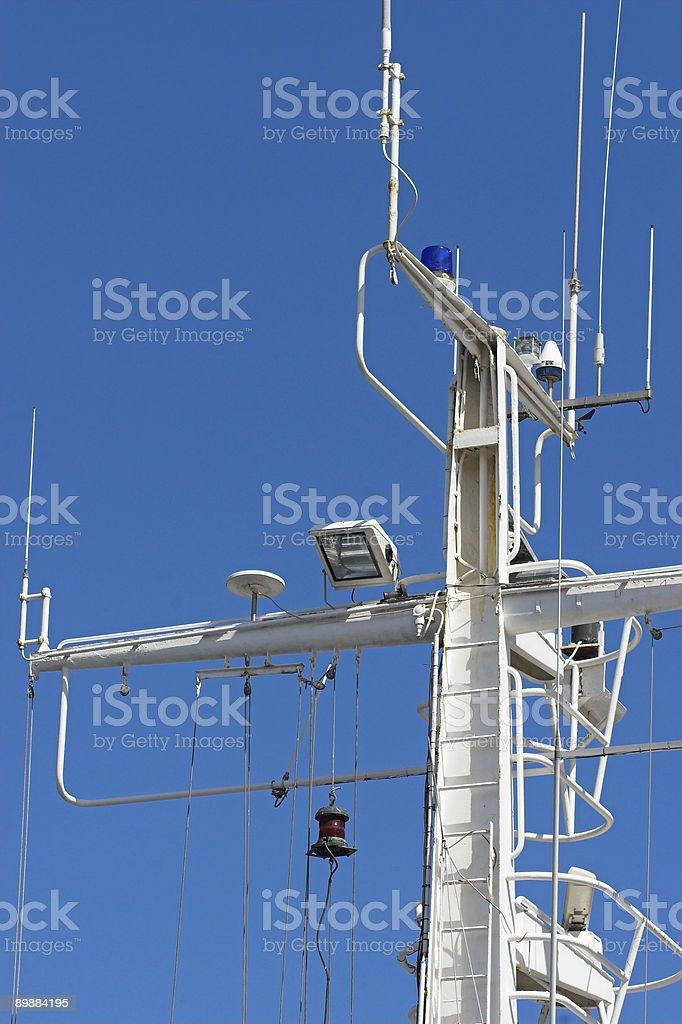 Los barcos Mast foto de stock libre de derechos