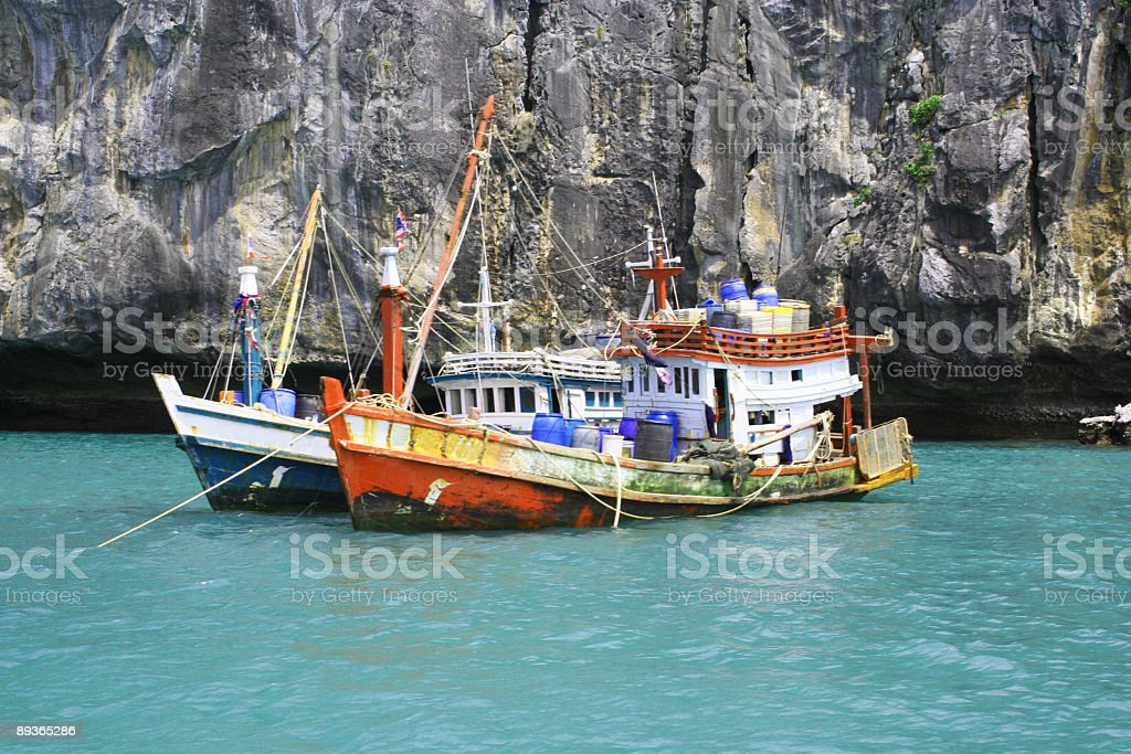 Ships (2) on the Sea... royalty-free stock photo