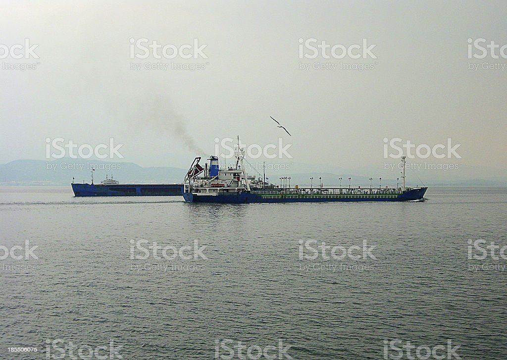 ships Over The Gulf royalty-free stock photo