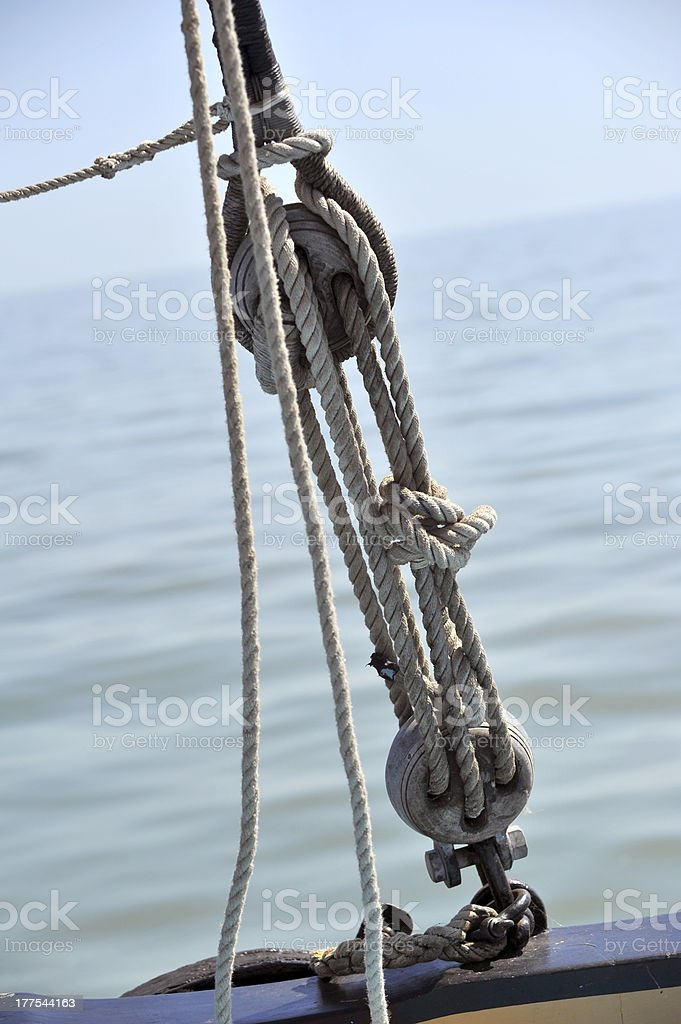 Ships Rigging and rope royalty-free stock photo