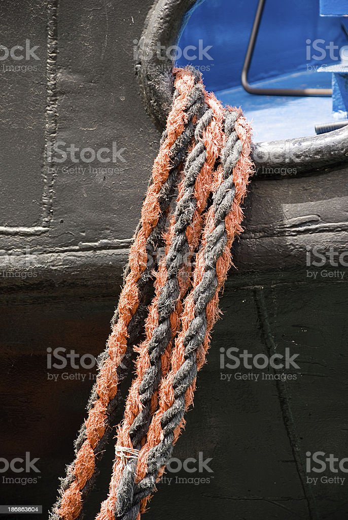 Ships Ropes stock photo