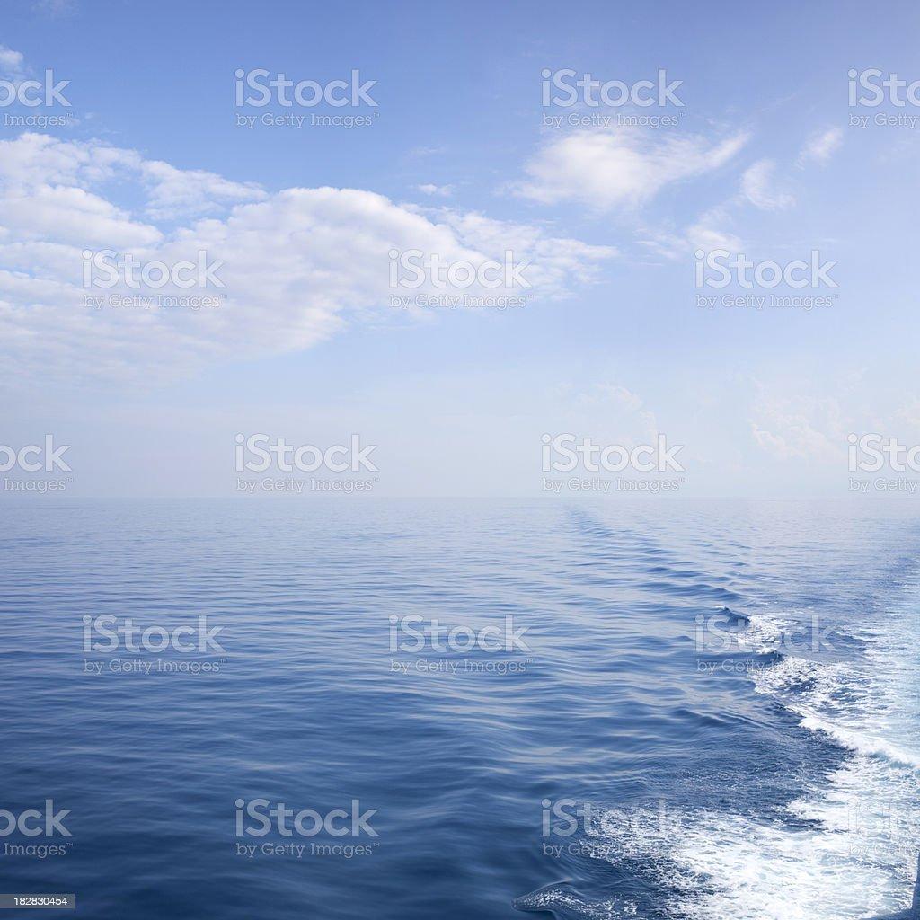 Ship's wake stock photo