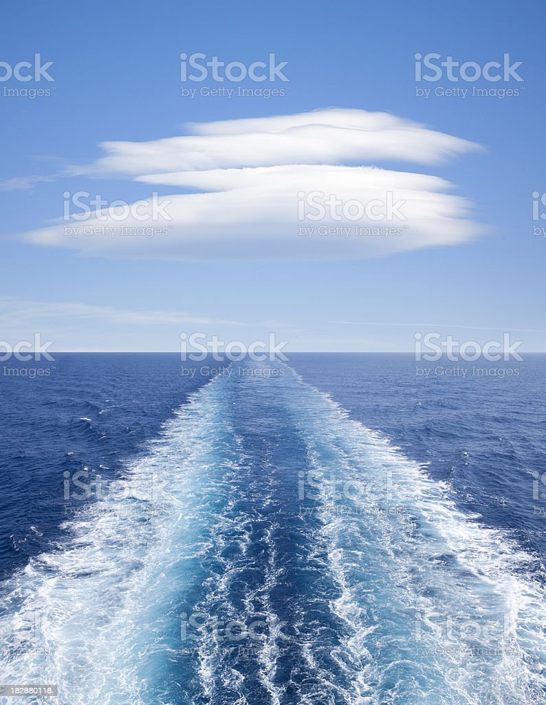 Ship's wake stock photo