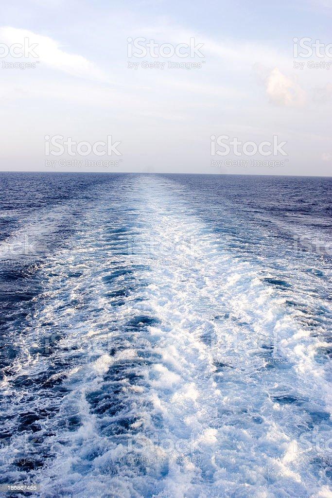 Ship's Wake royalty-free stock photo