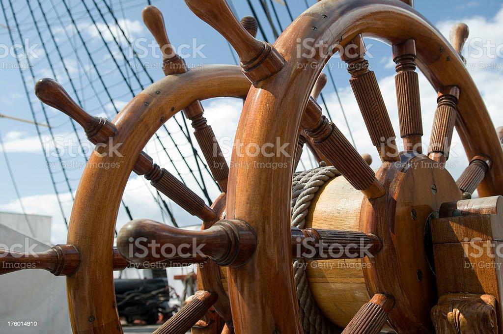Ship´s wheel. royalty-free stock photo