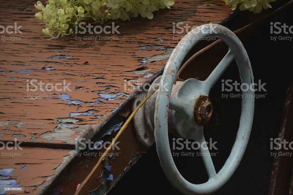 Ship's Wheel stock photo