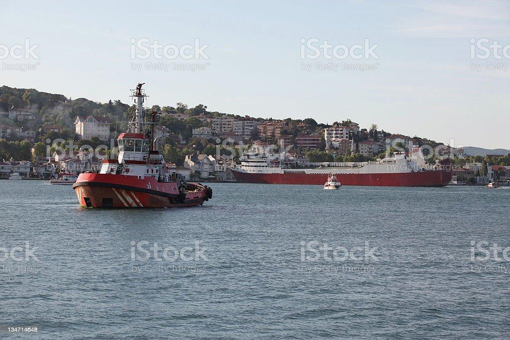 Shipwreck at Bosphorus...tugboat stock photo