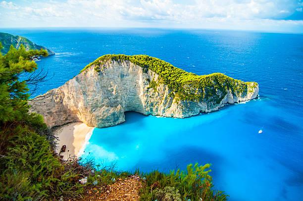 쉬프랙 플라주 그리스 - 이오니아 해 뉴스 사진 이미지