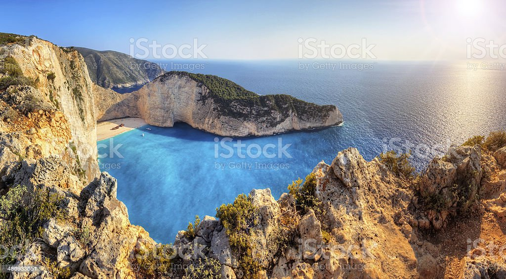 Shipwreck beach stock photo