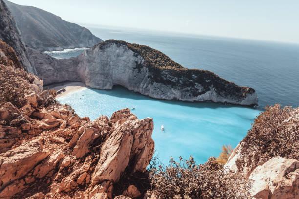 Schiffswrack Strand - Zakynthos, Griechenland. – Foto