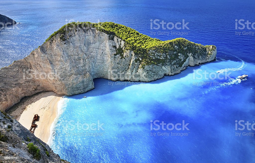 Shipwreck Beach, Zakynthos island, Greece stock photo