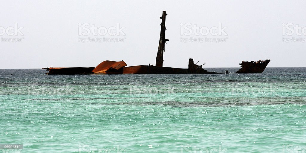 Shipwreck Dominican Republic royalty-free stock photo