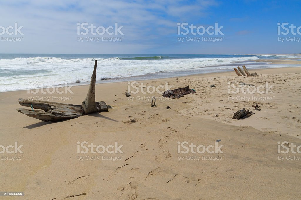 Shipwreck from Skeleton coast stock photo