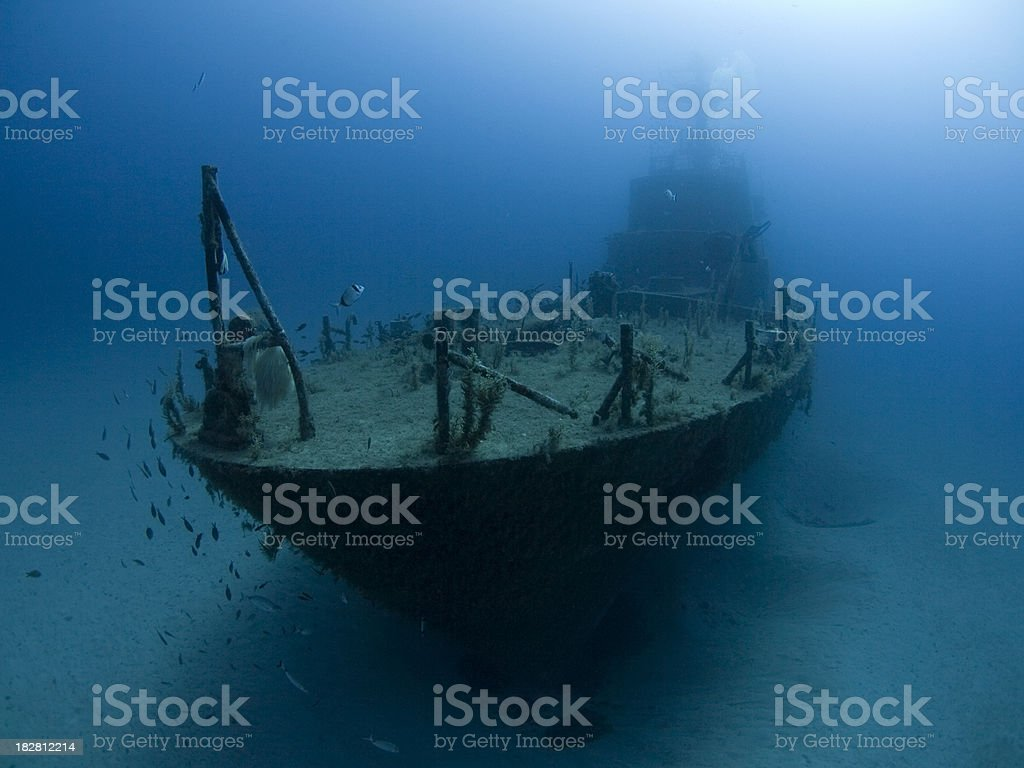 shipwreck from the bow royalty-free stock photo