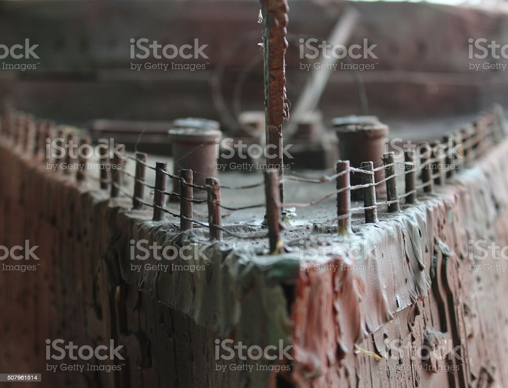 Shipwreck model stock photo