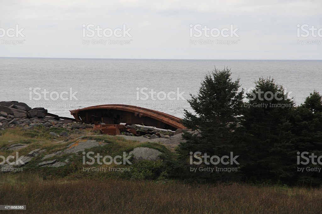 Shipwreck Monhegan Island royalty-free stock photo