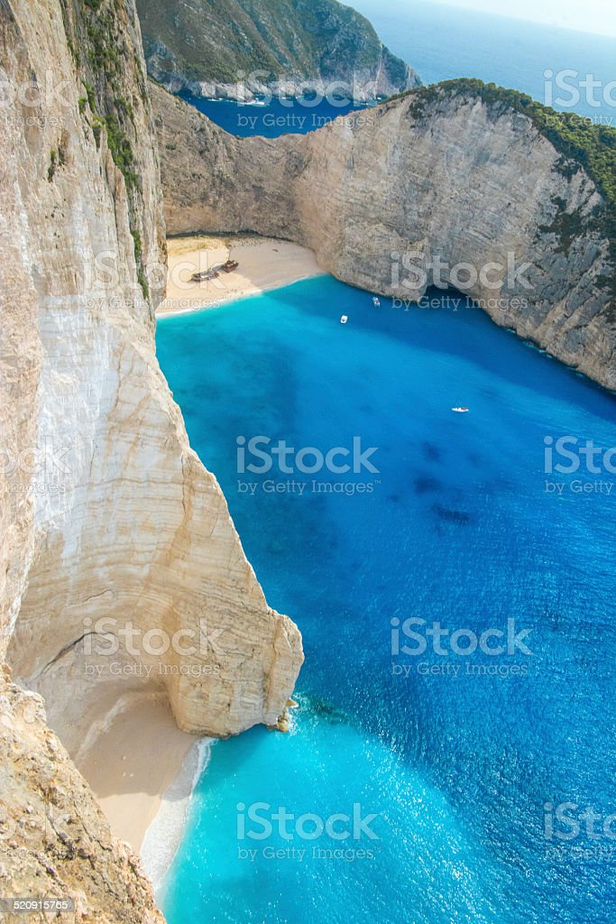 Shipwreck navagio stock photo