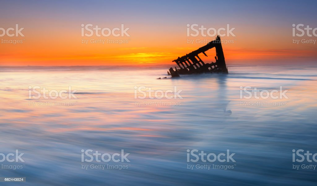 Shipwreck of the Peter Iredale stock photo