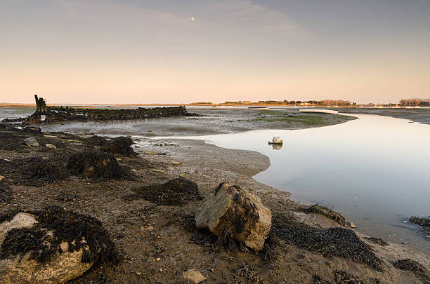 Shipwreck on hayling Island stock photo