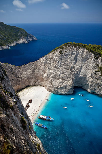 Shipwreck-Strand Navagio auf Zakynthos, Griechenland – Foto