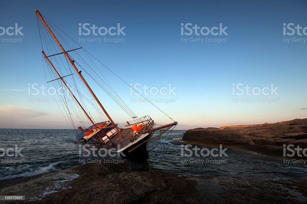 Shipwreck stock photo