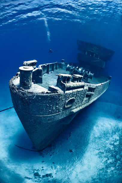 shipwreck - wreck diving stock pictures, royalty-free photos & images