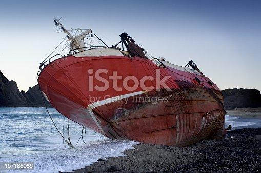 shipwreck in the coast