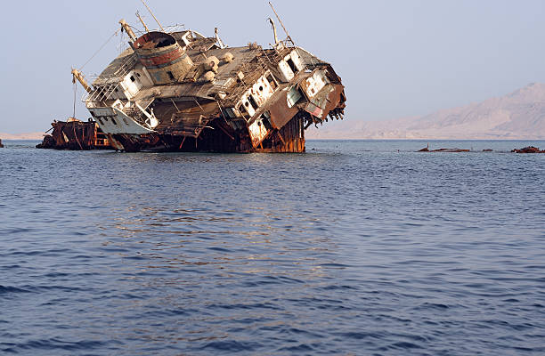 shipwreck - horn of africa stock photos and pictures