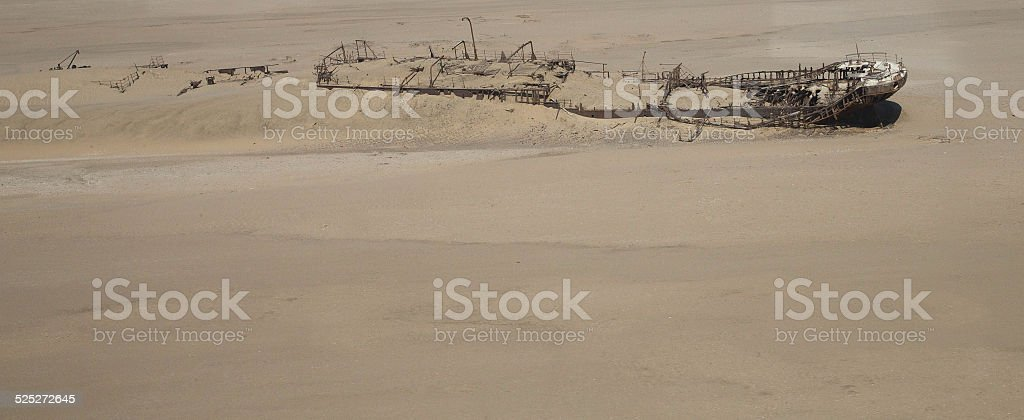 Shipwreck stock photo