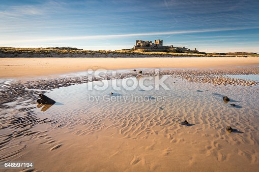 istock Shipwreck remains below Bamburgh Castle 646597194