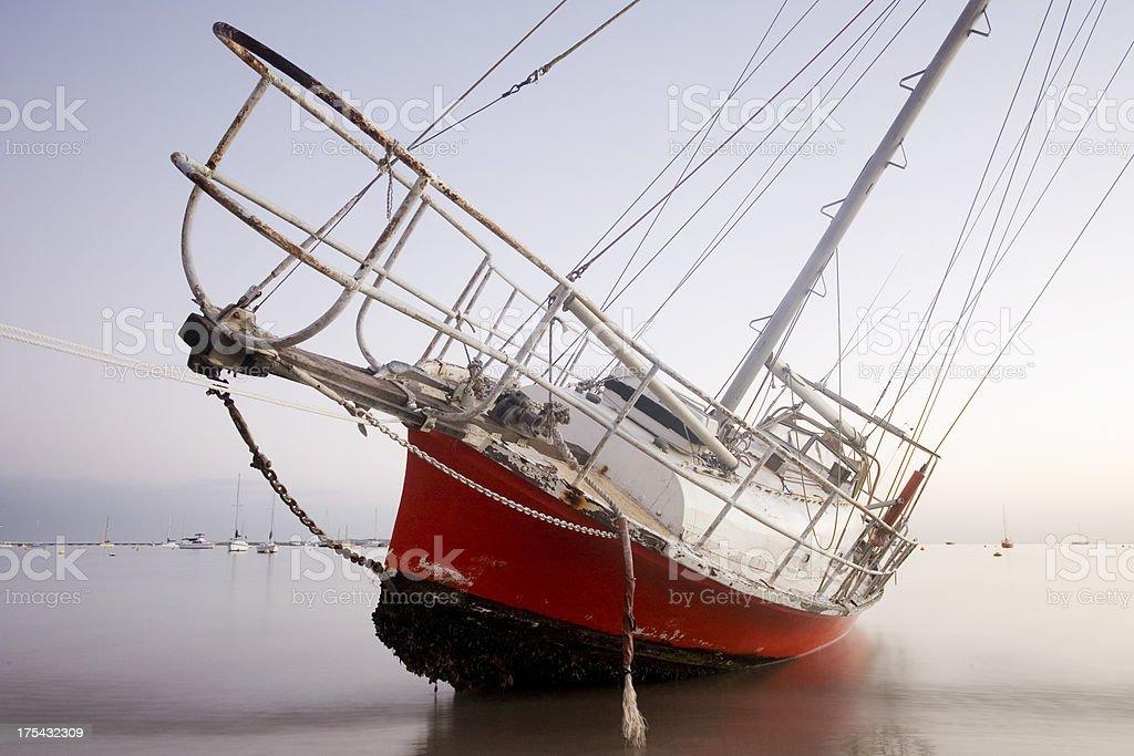 Shipwreck Yacht royalty-free stock photo