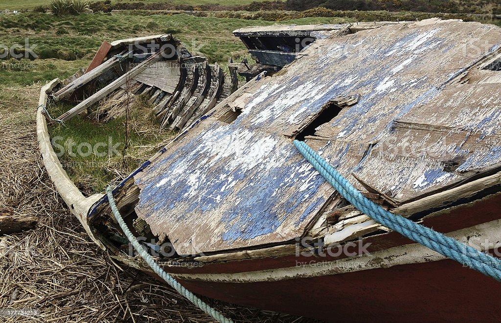 Shipwrecked Boat royalty-free stock photo