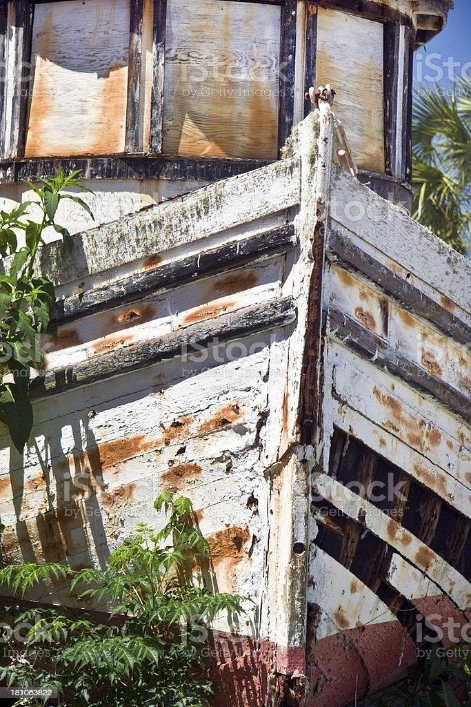 Shipwrecked royalty-free stock photo