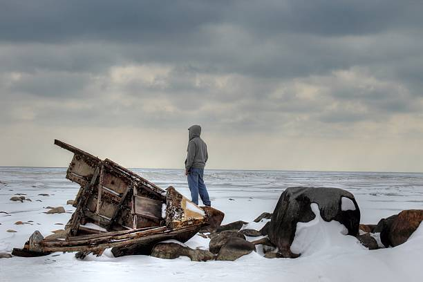 shipwrecked - desert island stock photos and pictures