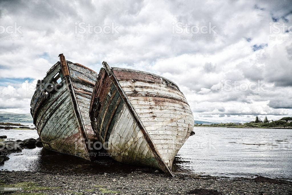 Shipwrecks stock photo