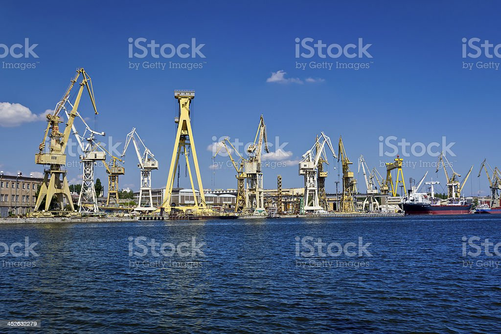 Shipyard and harbour, Szczecin royalty-free stock photo