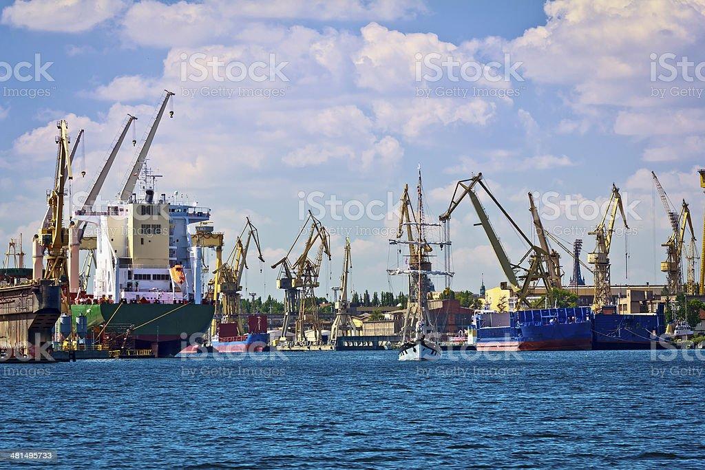 Shipyard and Industrial harbour, Szczecin, Poland royalty-free stock photo