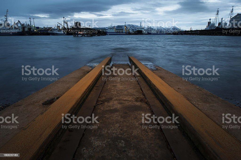 Shipyard in Iceland royalty-free stock photo