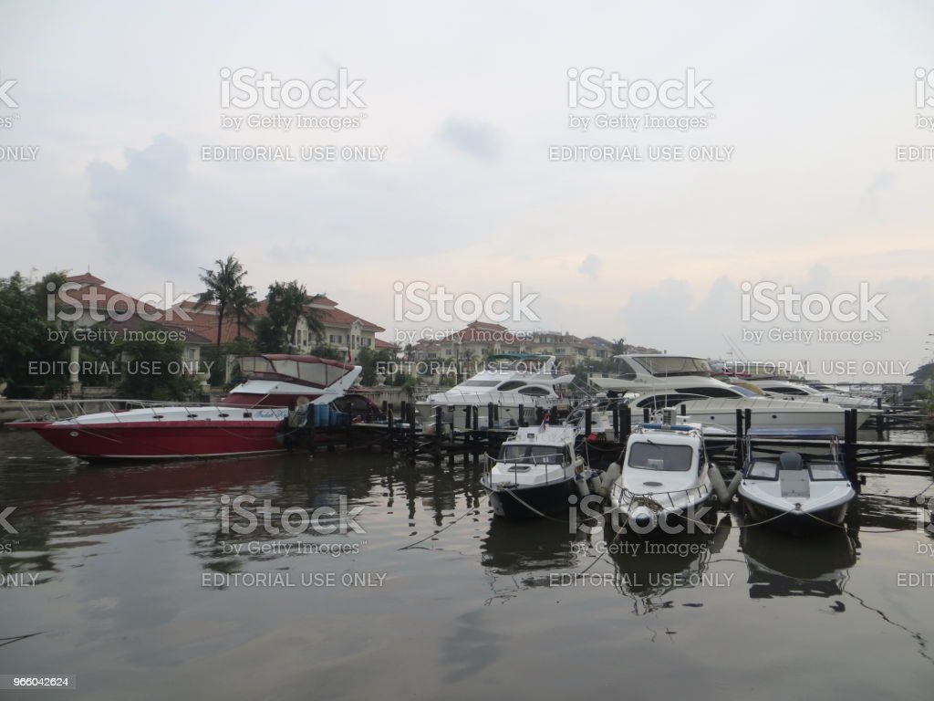 Werft in Jakarta - Lizenzfrei Anlegestelle Stock-Foto