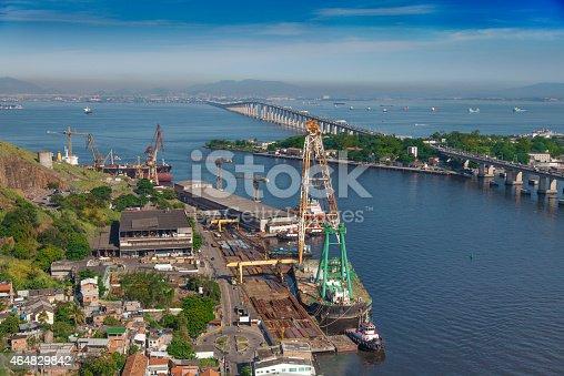 istock Shipyard in Niteroi city 464829842