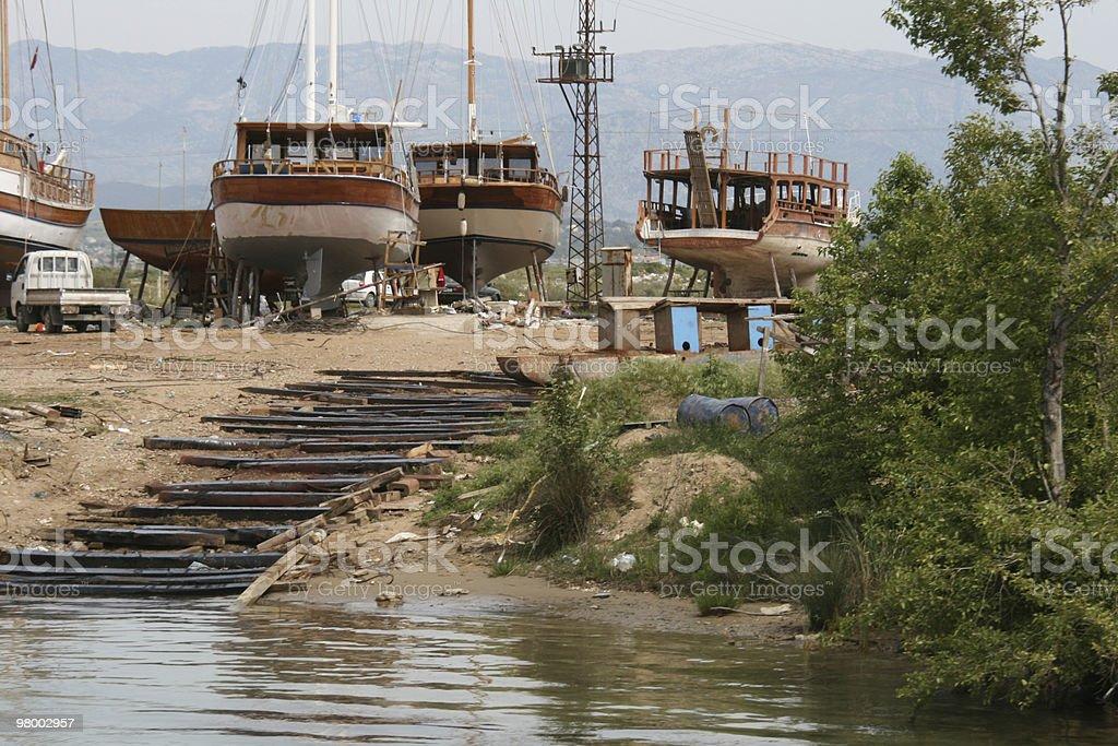 Shipyard in Turkey royalty-free stock photo