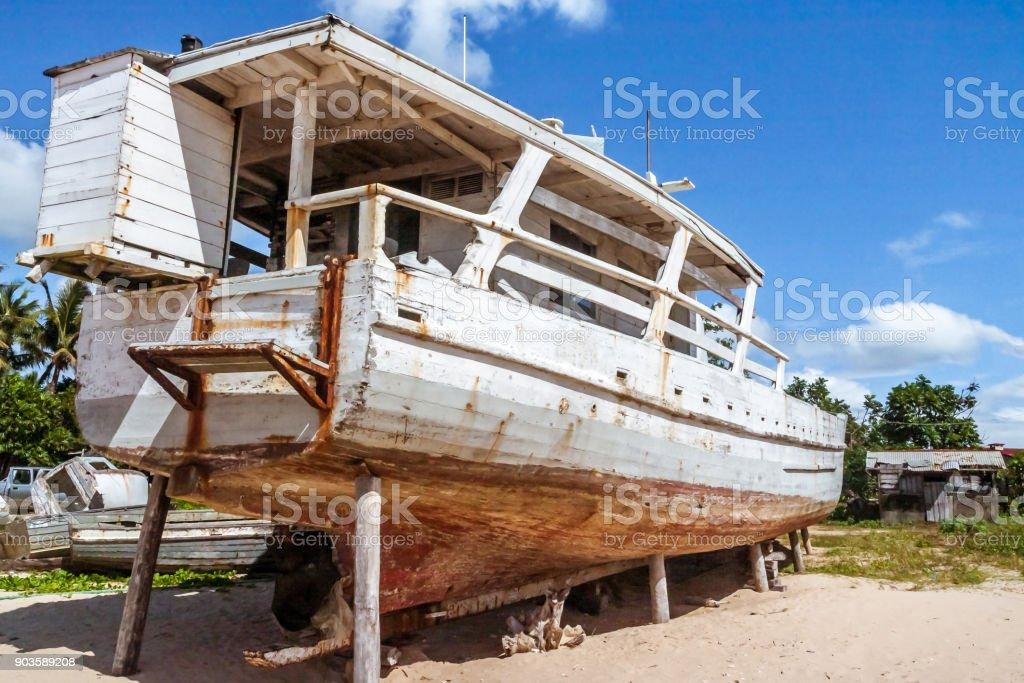 Shipyard of Antalaha stock photo